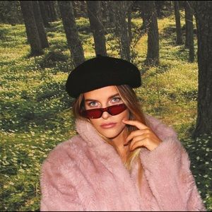"""Shade Supply Clear Red Sunglasses """"The Lottie"""""""